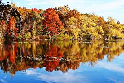 Autumn At Horn Pond Art Print by Joe Faherty