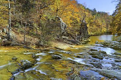 Photograph - Autumn At Little Missouri Falls - Arkansas - Ouachita National Forest by Jason Politte