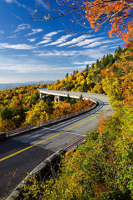 Photograph - Autumn At Lynn Cove Viaduct  by Anthony Heflin