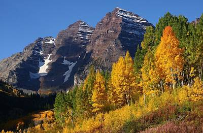 Autumn At Maroon Bells Print by Jetson Nguyen