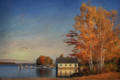 Digital Art - Autumn At Moosehead Lake by Lori Deiter