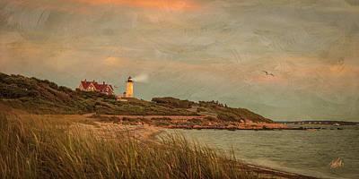 Cape Cod Digital Art - Autumn At Nobska Light House by Michael Petrizzo