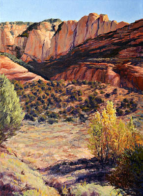 Desert Painting - Autumn At Palatki  by SJW Grogan