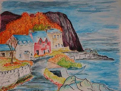 Autumn At Portbradden Art Print by Paul Morgan