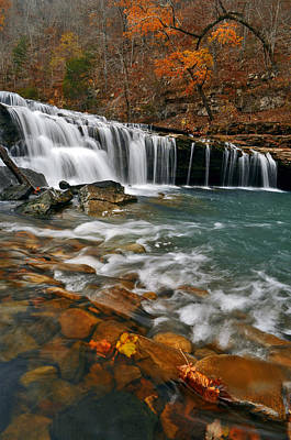 Autumn At Richland Falls Art Print