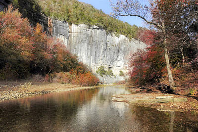 Arkansas Photograph - Autumn At Roark Bluff - Arkansas - Buffalo River by Jason Politte
