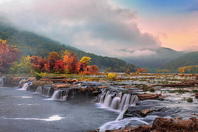 Photograph - Autumn At Sandstone Falls by Mary Almond