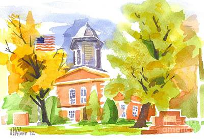 Autumn At The Courthouse Art Print