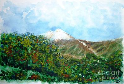 Autumn At The Foot Of Mount Elbrus Original by Zaira Dzhaubaeva