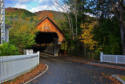 Photograph - Autumn At The Middle Bridge by Mike Martin
