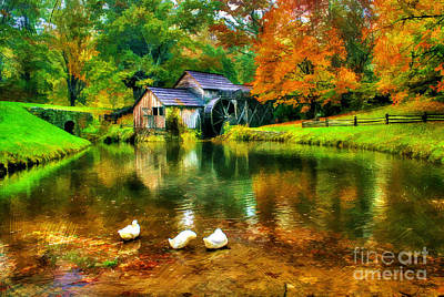 Mabry Mill Photograph - Autumn At The Mill by Darren Fisher