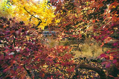 Autumn At The Park Art Print