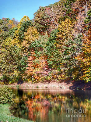 Kitchen Spices And Herbs - Autumn at The Pond  by Kerri Farley