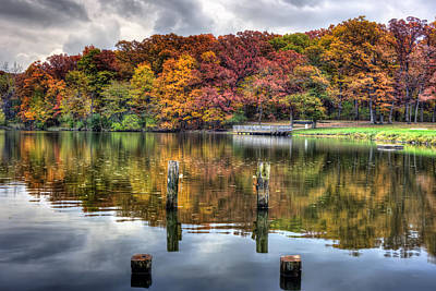 Autumn At The Pond Art Print