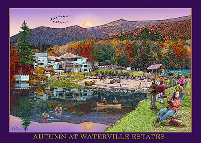 Digital Art - Autumn At Waterville Estates by Nancy Griswold