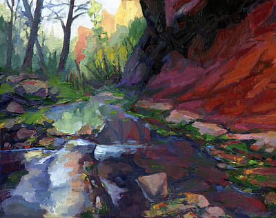 West Fork Painting - Autumn At West Fork by Russell Johnson