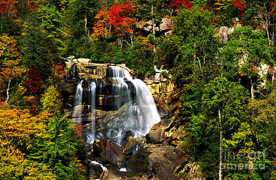 Photograph - Autumn At Whitewater Falls by Paul W Faust -  Impressions of Light