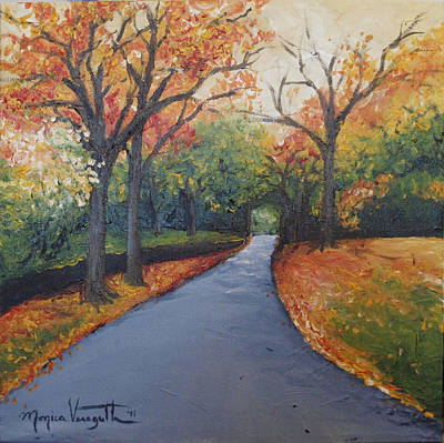Painting - Autumn At Woodlawn by Monica Veraguth