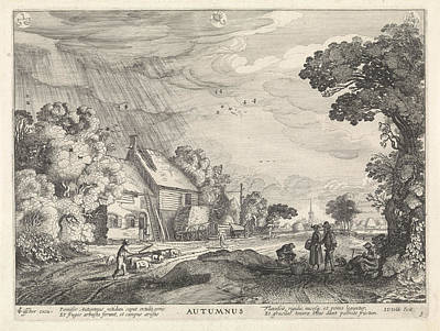 Autumn Art Drawing - Autumn Autumnus, With Constellations, Jan Van De Velde II by Quint Lox