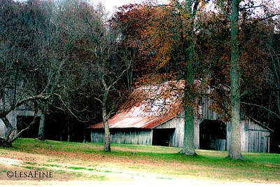 Photograph - Autumn Barn In Alabama by Lesa Fine