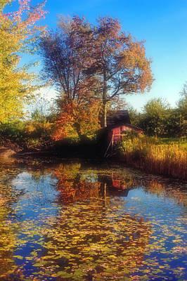Autumn Barn Art Print by Joann Vitali