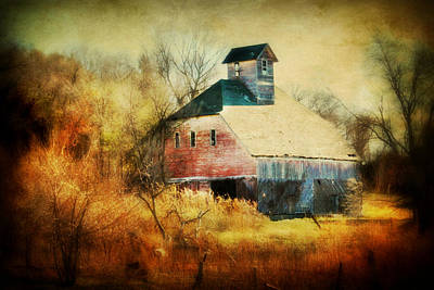 Rural Art Digital Art - Autumn Barn by Julie Hamilton