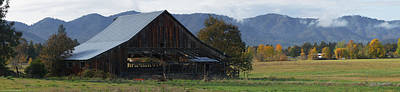 Photograph - Autumn Barn Panorama by Mick Anderson