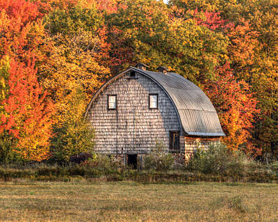 Photograph - Autumn Barn by Patricia Dennis