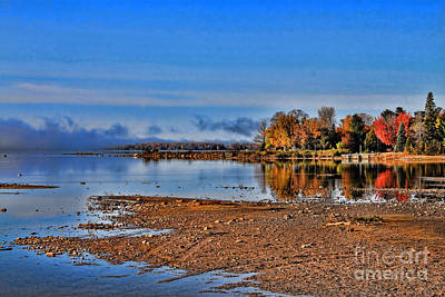Photograph - Autumn Beach Solitude by Cathy Beharriell