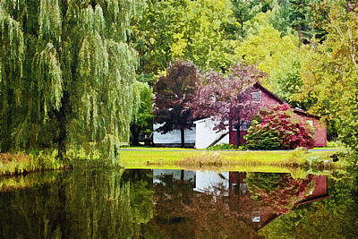 Willow Lake Digital Art - Autumn Beauty At Weston Vermont by Priscilla Burgers