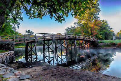Concord Ma Photograph - Autumn Begins  by Larry Richardson