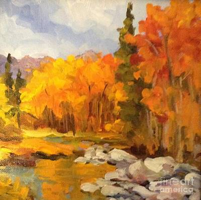 Painting - Autumn Below The Dam by Pat Crowther