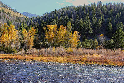 Photograph - Rippling Big Hole River Montana by Jennie Marie Schell