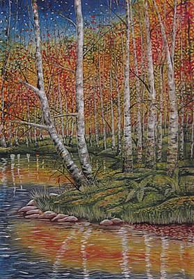Autumn Birch Forest Art Print