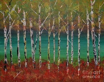 Autumn Birches Art Print by Denise Tomasura