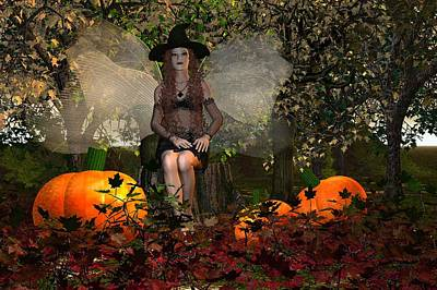 Fae Art Mixed Media - Autumn-blessed Samhain by Eva Thomas