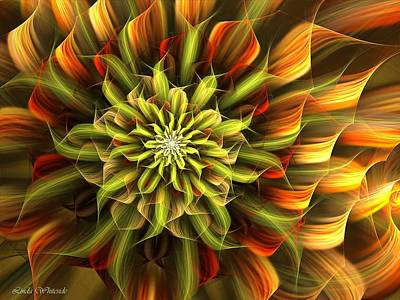 Digital Art - Autumn Bloom by Linda Whiteside