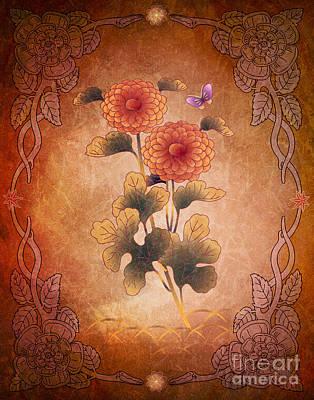 Autumn Blooming Mum Art Print by Bedros Awak