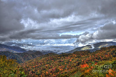 Richland County Photograph - Autumn Blue Ridge Parkway North Carolina by Reid Callaway