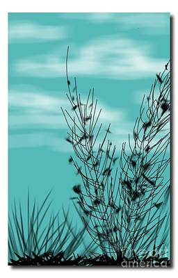 Digital Art - Autumn Blue Sky by Judy Via-Wolff