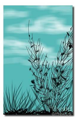 Digital Art - Autumn Blue Sky by Judy Via-Wolff
