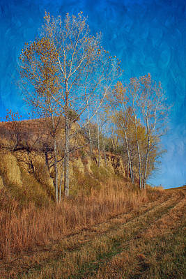 Country Scene Photograph - Autumn Bluff Painted by Nikolyn McDonald