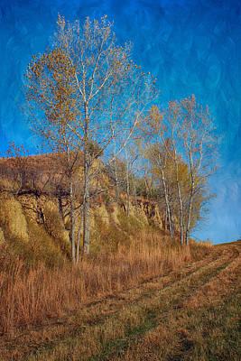 Autumn Bluff Painted Art Print by Nikolyn McDonald