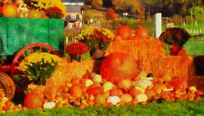 Pumpkin Mixed Media - Autumn Bounty by Dan Sproul