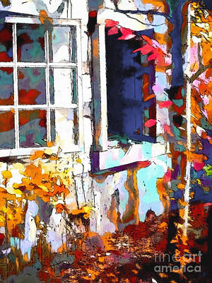 Autumn Breeze Through Open Windows    Windows Art Print by Barbara D Richards