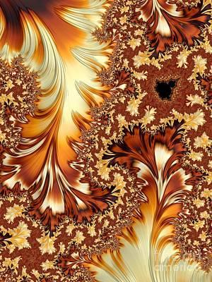 Warm Digital Art - Autumn Breezes by Heidi Smith