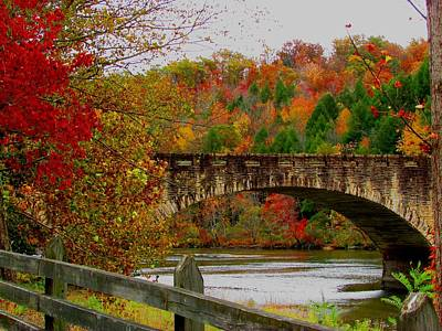 Autumn Bridge 1 Art Print