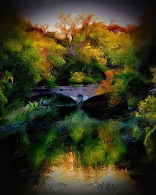 Fall Photograph - Autumn Bridge by Cindi Snow