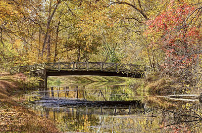National Park Service Photograph - Autumn Bridge by Francis Sullivan