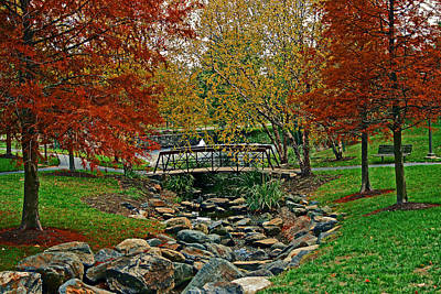 Art Print featuring the photograph Autumn Bridge by Andy Lawless